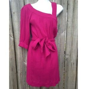 "FRENCH CONNECTION Magenta ""Whisper"" Sheath Dress"